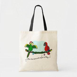 Deck the Halls Parrot Tote Bag