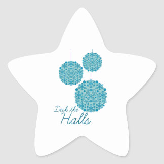 Deck The Halls Star Stickers