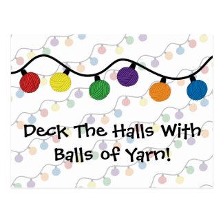 Deck The Halls With Balls Of Yarn Postcard