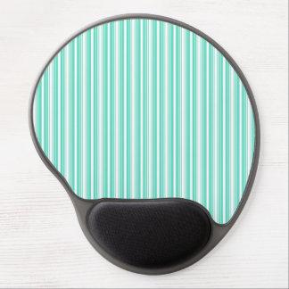 Deckchair Stripes in Tiffany Aqua Blue Gel Mouse Mat