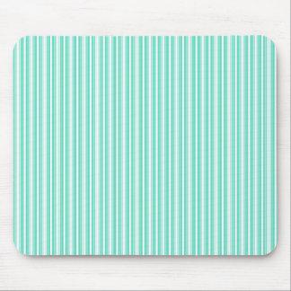 Deckchair Stripes in Tiffany Aqua Blue Mouse Pad