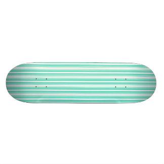 Deckchair Stripes in Tiffany Aqua Blue Skateboard