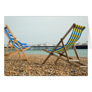 Deckchairs and shingle card