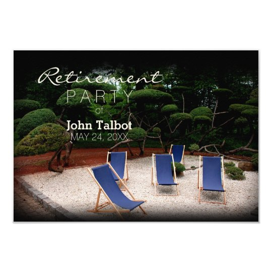 Deckchairs Personalised Retirement Invitation