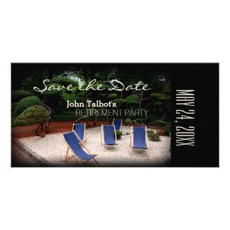 Deckchairs Personalized Retirement Save the Date Photo Card Template