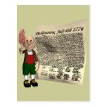 Declaration July 4th 1776 Post Card