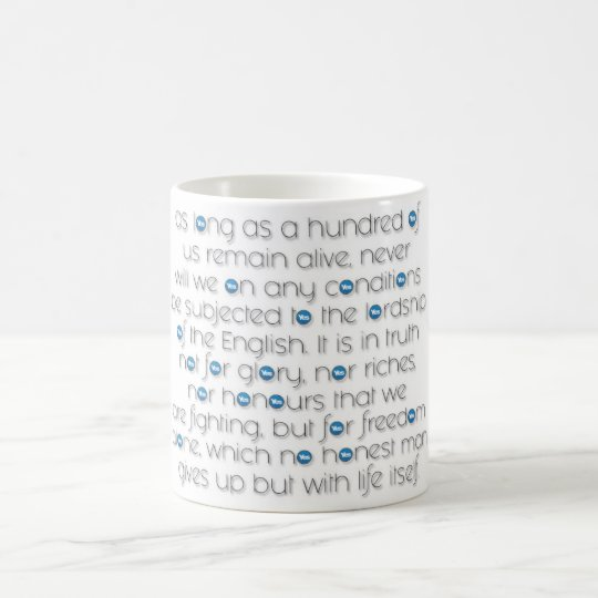 """DECLARATION OF ARBROATH CLASSIC WHITE MUG"