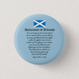 Declaration of Arbroath Scottish Independence 3 Cm Round Badge