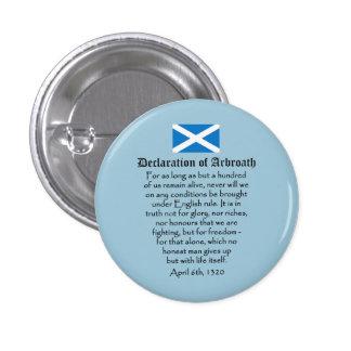 Declaration of Arbroath Scottish Independence 3 Cm Round Badge