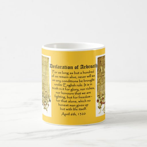 Declaration of Arbroath Scottish Independence Mug