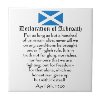 Declaration of Arbroath Scottish Independence Small Square Tile