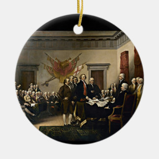Declaration of Independence 1776 Round Ceramic Decoration