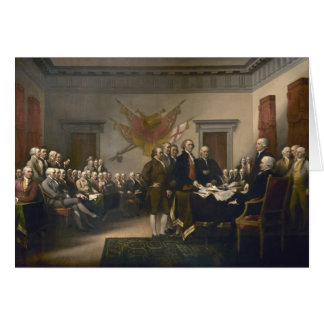 Declaration of Independence - 1819 Note Card