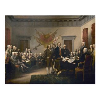 Declaration of Independence - 1819 Postcard