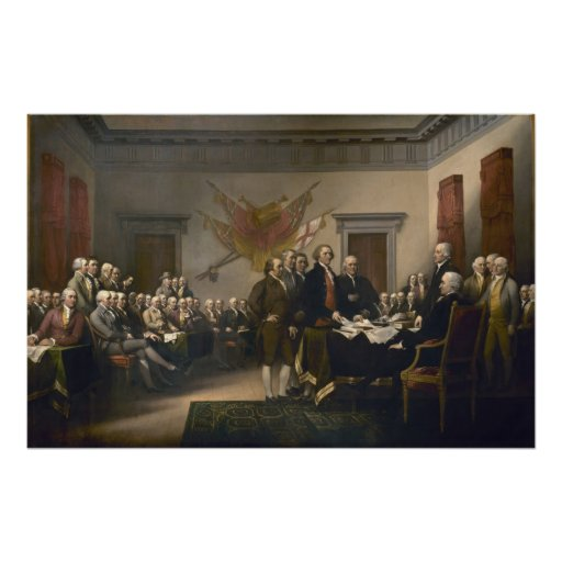 Declaration of Independence - 1819 Poster
