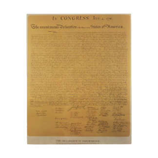 Declaration of Independence 2 Wood Wall Art