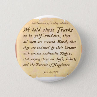 Declaration of Independence 6 Cm Round Badge