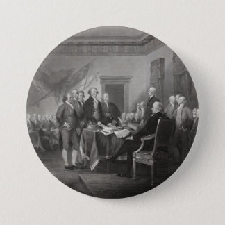 Declaration of Independence 7.5 Cm Round Badge