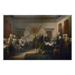 Declaration of Independence by John Trumbull Print Poster