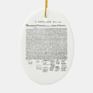 Declaration of Independence Christmas Ornament