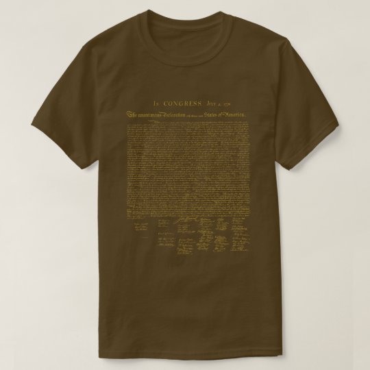 Declaration of Independence Gold T-Shirt
