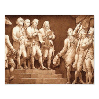 """Declaration of Independence 4.25"""" X 5.5"""" Invitation Card"""