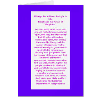 Declaration of Independence jGibney The MUSEUM Zaz Greeting Card