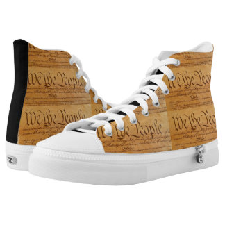Declaration of Independence Printed Shoes