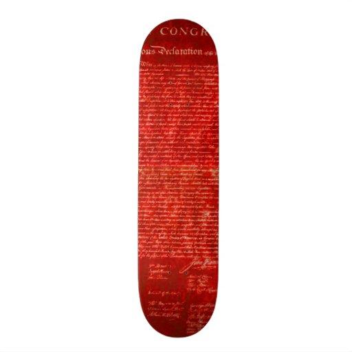 Declaration of Independence red Skate Board