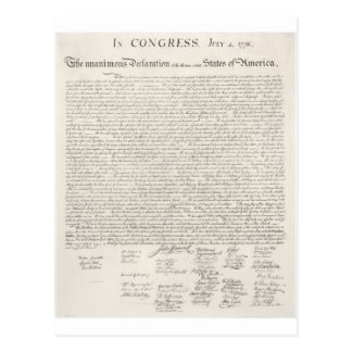 Declaration of Independence Two Postcard