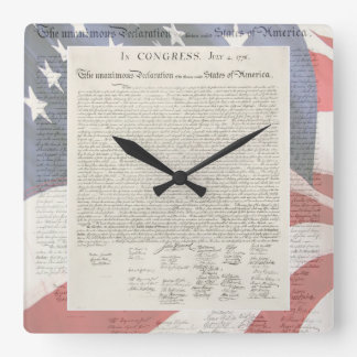 Declaration of Independence Wall Clock