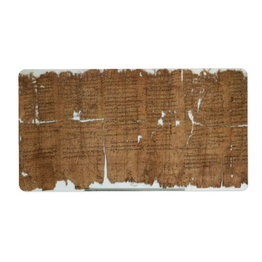 Declaration of Prices Papyrus dated 319 A.D. Shipping Label