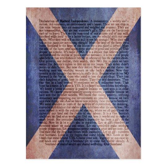 Declaration of Radical Independence postcard