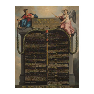 Declaration of the Rights of Man and Citizen 2 Wood Print
