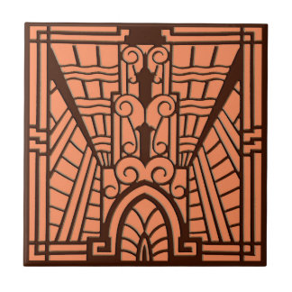 Deco Architectural Pattern, Copper and Brown Tile