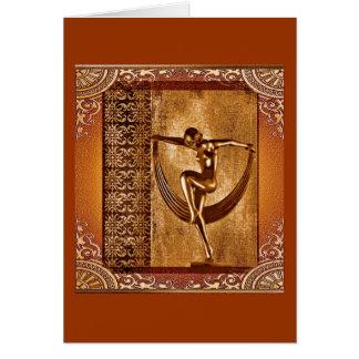 Deco art greeting card