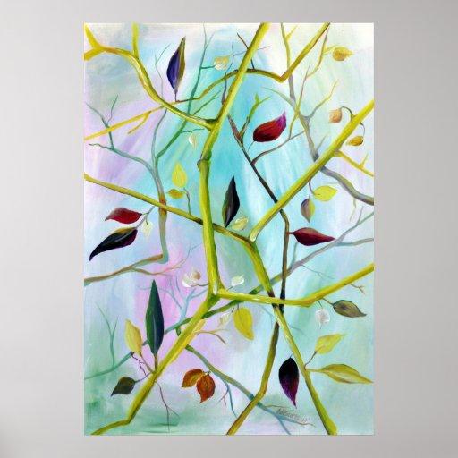 Deco Art - Multidimensional Painted Leaves Poster