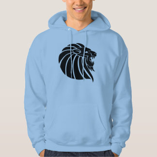 Deco art tattoo silhouette Lion Head Hoodie