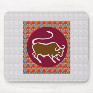 Deco Artistic Zodiac Symbol TARUS BULL GIFTS all Mouse Pads