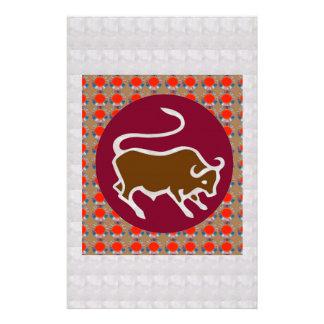 Deco Artistic Zodiac Symbol TARUS BULL GIFTS all Stationery Paper