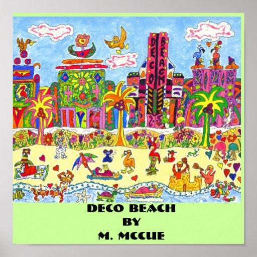 Deco Beach Poster