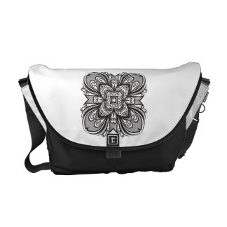 Deco Black Square Inspired Courier Bags