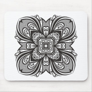 Deco Black Square Inspired Mouse Mat