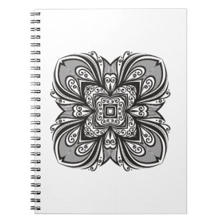 Deco Black Square Inspired Spiral Notebook