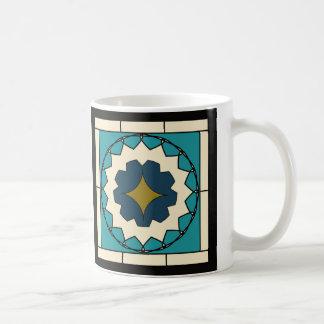 Deco Blue Tile Design Coffee Mug