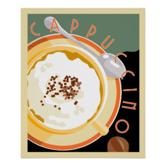 Deco Cappuccino Poster