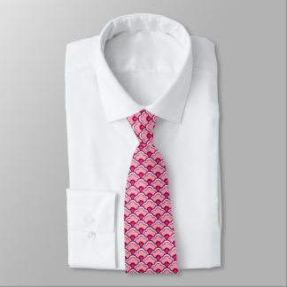 Deco Chinese Scallops, Burgundy Wine and Pink Tie