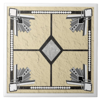 deco diamond tile