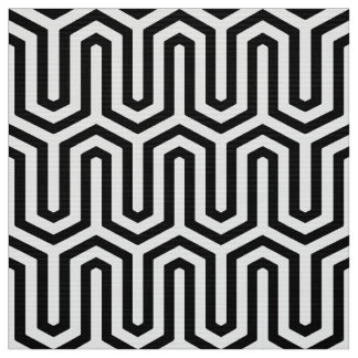 Deco Egyptian motif - black and white Fabric