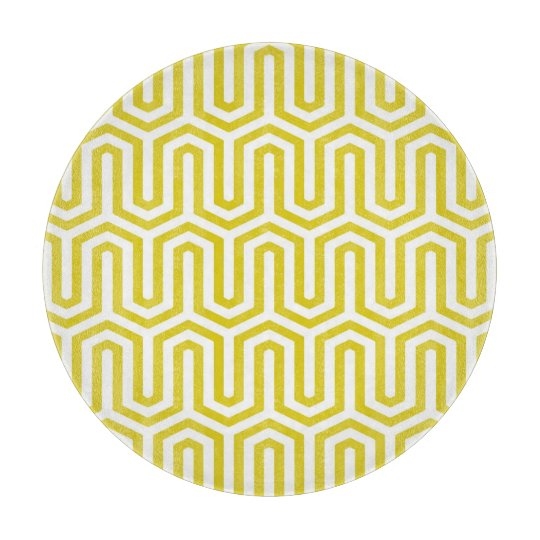 Deco Egyptian motif - mustard gold and white